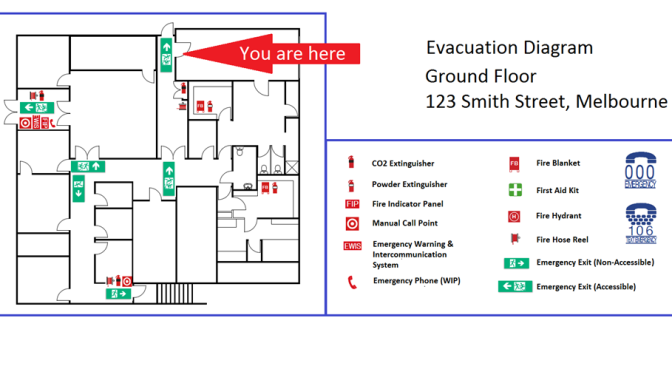planning for emergencies in the workplace   universal design meets    evacuation diagram