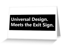 Universal Design Meets the Exit Sign 10 Fundraising Merchandise