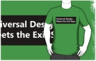 Universal Design Meets the Exit Sign 104 Fundraising Merchandise