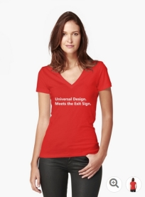 Universal Design Meets the Exit Sign 107 Fundraising Merchandise