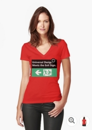 Universal Design Meets the Exit Sign 109 Fundraising Merchandise