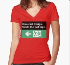 Universal Design Meets the Exit Sign 112 Fundraising Merchandise
