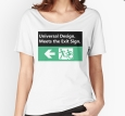 Universal Design Meets the Exit Sign 119 Fundraising Merchandise