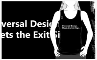 Universal Design Meets the Exit Sign 120 Fundraising Merchandise