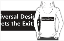 Universal Design Meets the Exit Sign 137 Fundraising Merchandise