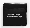 Universal Design Meets the Exit Sign 14 Fundraising Merchandise