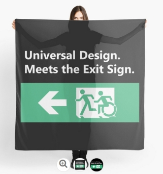 Universal Design Meets the Exit Sign 150 Fundraising Merchandise
