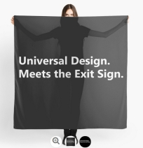 Universal Design Meets the Exit Sign 151 Fundraising Merchandise