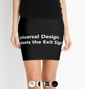 Universal Design Meets the Exit Sign 154 Fundraising Merchandise
