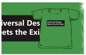 Universal Design Meets the Exit Sign 155 Fundraising Merchandise