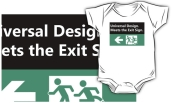 Universal Design Meets the Exit Sign 158 Fundraising Merchandise