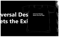 Universal Design Meets the Exit Sign 161 Fundraising Merchandise
