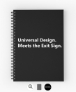 Universal Design Meets the Exit Sign 179 Fundraising Merchandise