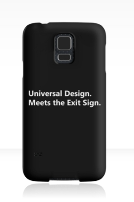 Universal Design Meets the Exit Sign 184 Fundraising Merchandise
