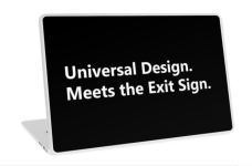 Universal Design Meets the Exit Sign 20 Fundraising Merchandise