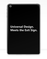 Universal Design Meets the Exit Sign 22 Fundraising Merchandise