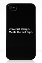 Universal Design Meets the Exit Sign 30 Fundraising Merchandise