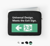 Universal Design Meets the Exit Sign 45 Fundraising Merchandise