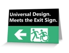 Universal Design Meets the Exit Sign 49 Fundraising Merchandise