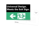 Universal Design Meets the Exit Sign 50 Fundraising Merchandise