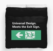 Universal Design Meets the Exit Sign 52 Fundraising Merchandise