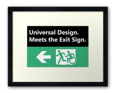 Universal Design Meets the Exit Sign 54 Fundraising Merchandise