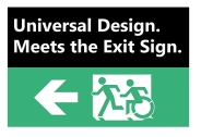 Universal Design Meets the Exit Sign 56 Fundraising Merchandise