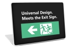 Universal Design Meets the Exit Sign 60 Fundraising Merchandise