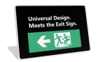 Universal Design Meets the Exit Sign 61 Fundraising Merchandise