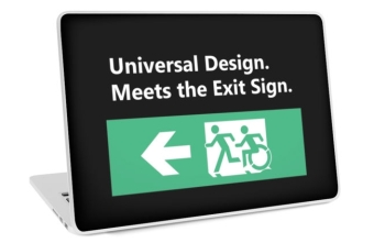 Universal Design Meets the Exit Sign 64 Fundraising Merchandise
