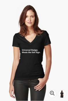 Universal Design Meets the Exit Sign 68 Fundraising Merchandise