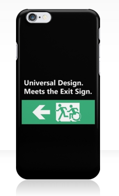 Universal Design Meets the Exit Sign 72 Fundraising Merchandise