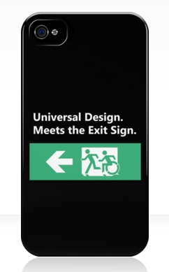 Universal Design Meets the Exit Sign 76 Fundraising Merchandise