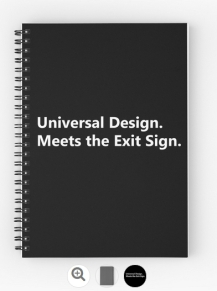 Universal Design Meets the Exit Sign 80 Fundraising Merchandise