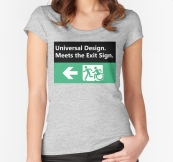Universal Design Meets the Exit Sign 83 Fundraising Merchandise