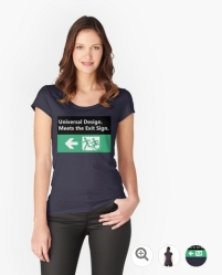 Universal Design Meets the Exit Sign 84 Fundraising Merchandise