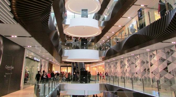 Melbourne Emporio shopping centre, view inside the atrium area
