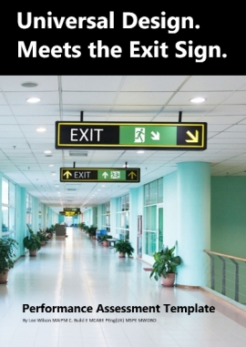 Universal Design Meets the Exit Sign Performance Assessment Template Cover