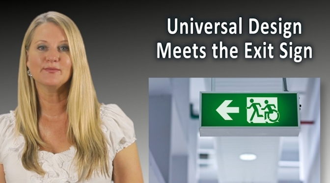Universal Design Meets the Exit Sign Project Video