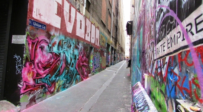 Graffiti in Union Lane Melbourne