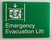 Braille Sign Supplies Emergency Evacuation Lift Sign