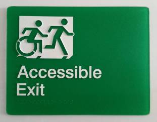 Braille Sign Supplies Exit Sign
