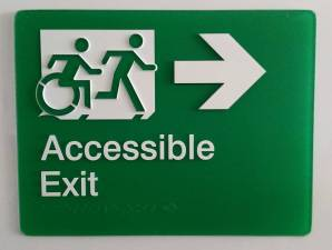 Braille Sign Supplies Exit Right Arrow Sign